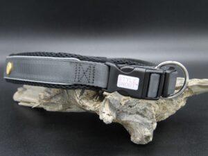 Hundehalsband Silver-Black-Edition, L