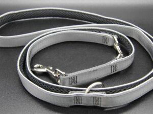 Hundeleine Silver-Black-Edition, L