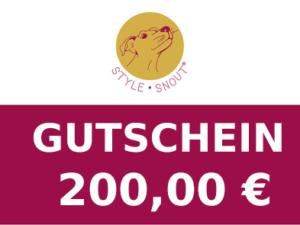 Gutschein im Wert von 200,00 €